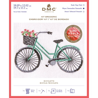 DMC Bicycle Kit - Small Embroidery Kit - 18cm x 12cm - TB147