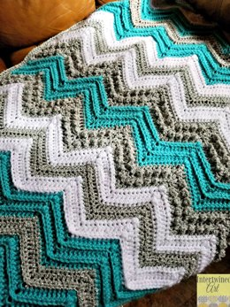 Tons of Texture Chevron Baby Blanket