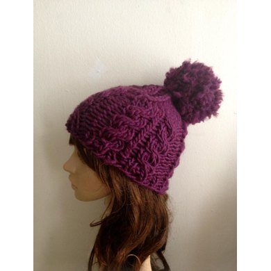 Super Chunky Twist Knit Cable Hat