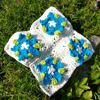 Gentian 8 inch square