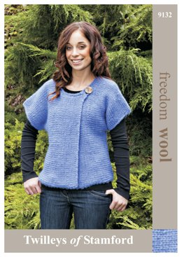 Sideways Knit Tunic in Twilleys Freedom Wool - 9132