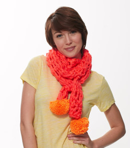 Neon Finger Crochet Scarf in Caron Simply Soft - Downloadable PDF