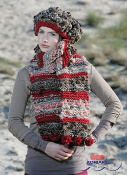 Cher Beret and Scarf in Adriafil Pepe and Charme - Downloadable PDF