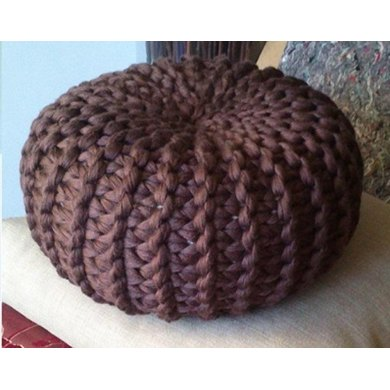 Knitted Floor Cushion Pattern : Knitted Pouf Floor cushion Pattern Knitting pattern by isWoolish Knitting Patterns LoveKnitting