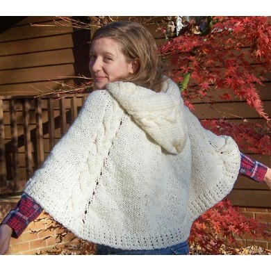 Winter wonderland cape a hooded poncho knitting pattern by mary winter wonderland cape a hooded poncho dt1010fo