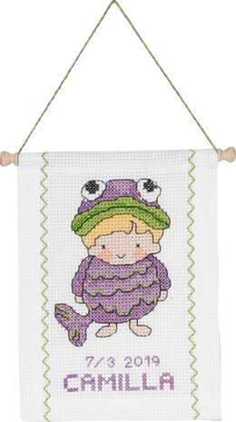 Permin Pisces Baby Star Sign Cross Stitch Kit - Multi