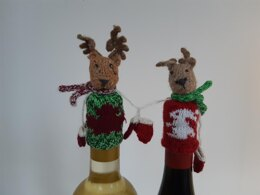 Christmas bottle beanies