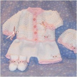 Cardi, Cap, Shorts and Booties 0-3mths and 0-6mths from the 'Billie' range