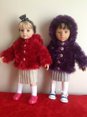 "Fur Jacket for 18"" Dolls"