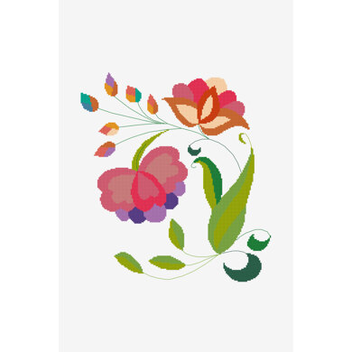 Mexican Spring Bloom in DMC - PAT0588 - Downloadable PDF