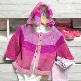 Pixie Cardigan and Hat in Premier Yarns DK Colours - Downloadable PDF