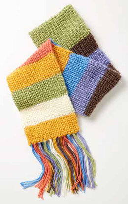 "February ""Mood"" Scarf - Shaker Rib in Caron Simply Soft and Simply Soft Brites - Downloadable PDF"