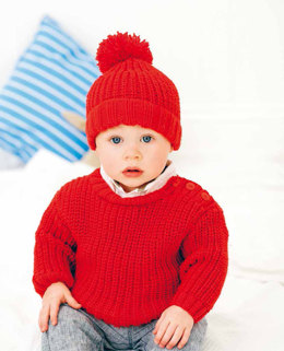 Sweater and Hat in Rico Baby Classic DK - 144