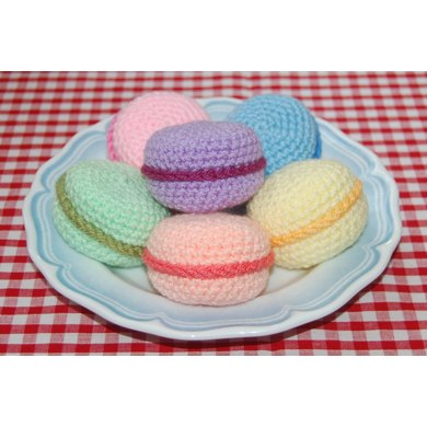 Crochet Pattern for Macarons / Macaroons - Crochet Play ...