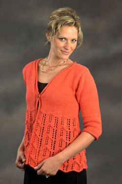 Woman's Flare Jacket in Plymouth Yarn Fantasy Naturale - 2286 - Downloadable PDF