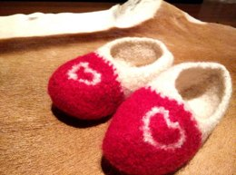 Big Kids Felted Slippers Pattern