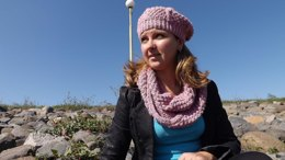 Pink Winter Infinity Scarf