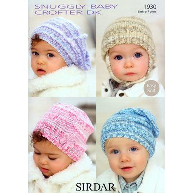 Baby's and Child's Hats in Sirdar Snuggly Baby Crofter DK - 1930