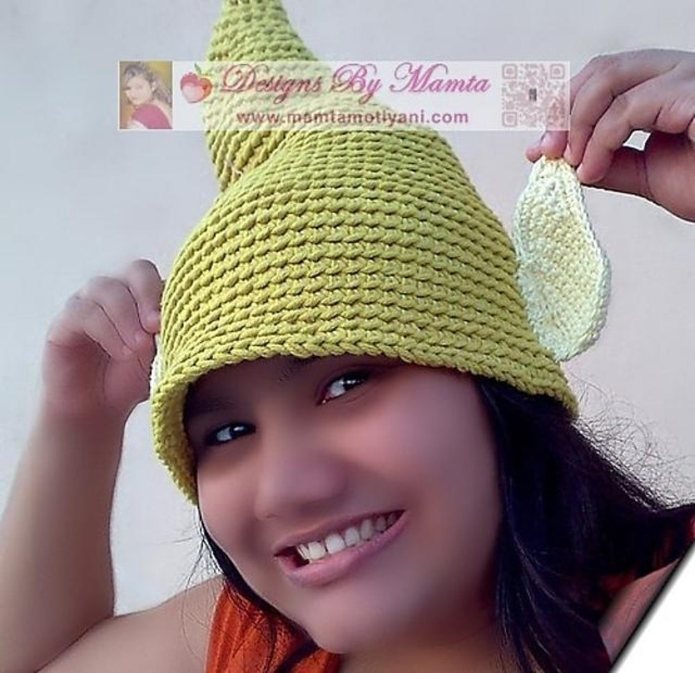 Tinkerbell Fairy Elf Gnome Pixie Hat With Ears Crochet