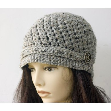 Easy Cloche with Button Trim Crochet pattern by Judith Stalus