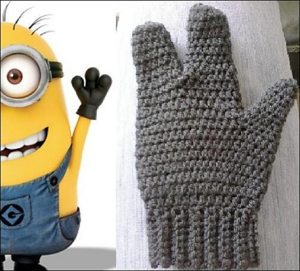 3 finger minion mittens crochet pattern by awkwardstitchuations 3 finger minion mittens zoom bankloansurffo Choice Image