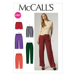 McCall's Misses' Shorts and Pants M6843 - Sewing Pattern