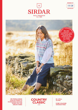 Ladies Fair Isle Top in Sirdar Country Classic 4 Ply - 10128 - Leaflet