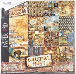 """Ciao Bella Double-Sided Paper Pack 90lb 12""""X12"""" 12/Pkg - Collateral Rust, 12 Designs/2 Each"""