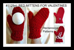 #1129yt - RED MITTENS for Valentines