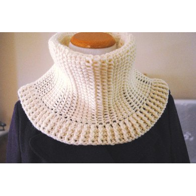 Tunisian Crochet Snow Cowl