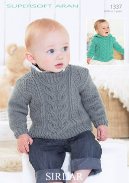 Sweaters in Sirdar Supersoft Aran - 1337 - Downloadable PDF
