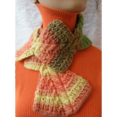 Tropical trapezoid scarf