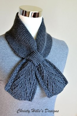 Everest Scarf ( Keyhole / Ascot / Pull-Through / Vintage / Stay On Scarf Knitting Pattern )