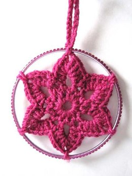 Christmas Crocheted Star Decoration
