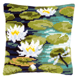 Vervaco Water Lilies Cushion Front Chunky Cross Stitch Kit
