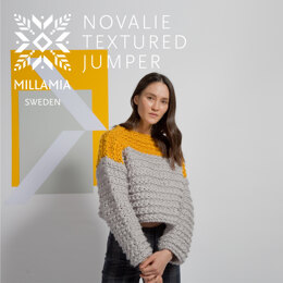 """"""" Novalie Textured Jumper """" -  Jumper Knitting Pattern For Women in MillaMia Naturally Soft Super Chunky by MillaMia"""