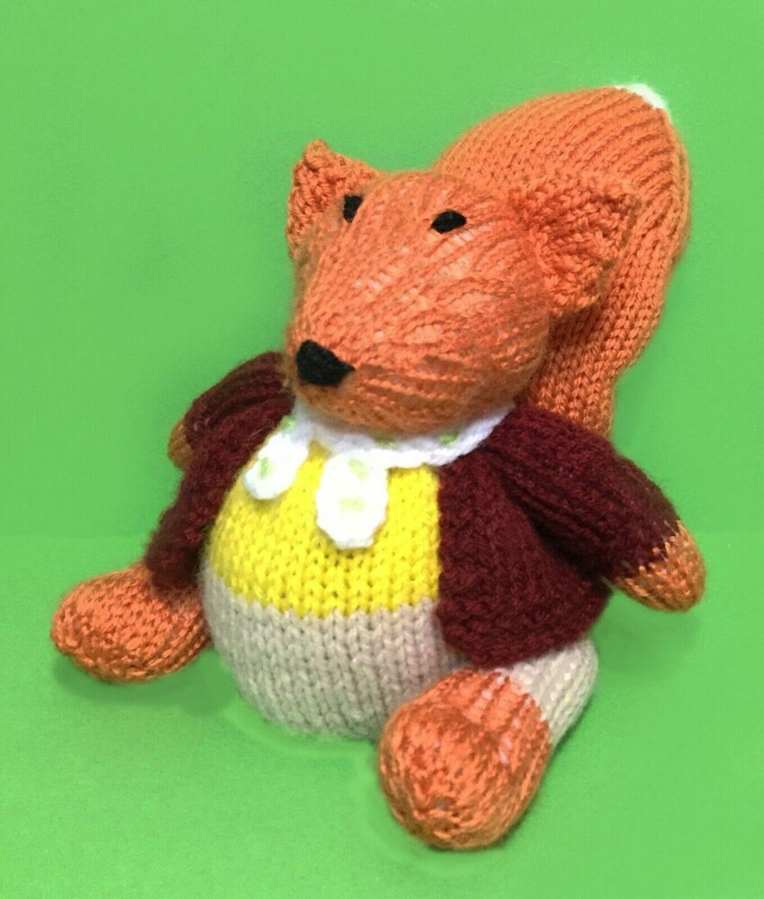 Fantastic Mr Fox Choc Orange Cover Toy Knitting Pattern By Andrew Lucas