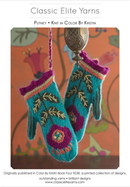 Putney Mittens in Classic Elite Yarns Color by Kristin - Downloadable PDF