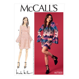 McCall's Misses' Trumpet Sleeve Dresses M7505 - Sewing Pattern