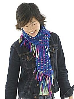 Dream Weave Scarf in Lion Brand Wool-Ease