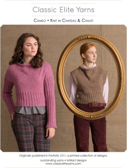 Cameo Pullover in Classic Elite Yarns Chateau  - Downloadable PDF