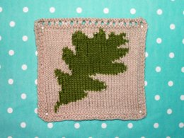 Oak Leaf Intarsia Square