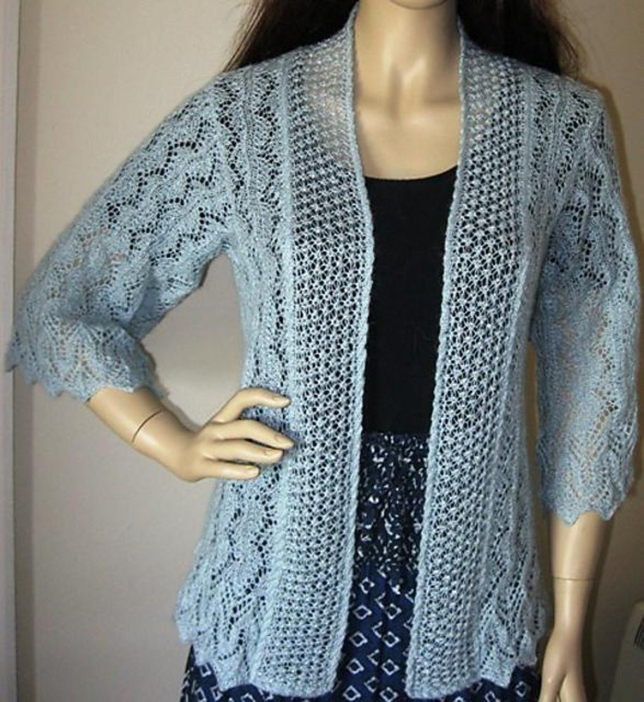 Wishes beaded lace cardigan knitting pattern by judy furlong wishes beaded lace cardigan zoom bankloansurffo Image collections