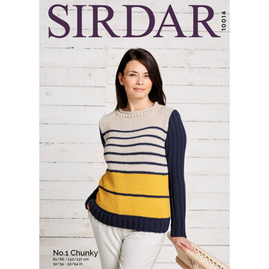 Jumper in Sirdar No.1 Chunky - 10014 - Leaflet