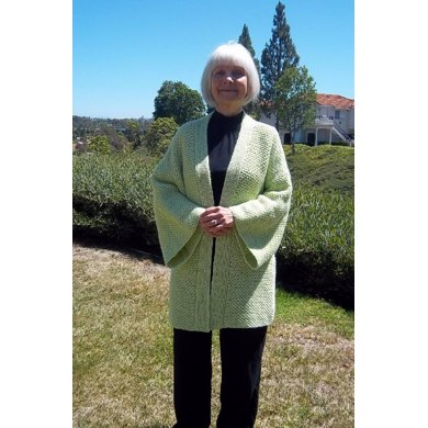 Easy Ripple Stitch Kimono Jacket Knitting Pattern By Lenas Legacy