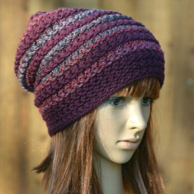 c308aa80d3f Womens Mens Unisex Slouchy Hat in James C. Brett Chunky with Merino    Marble Chunky