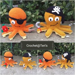 Amigurumi Octopus Pirates