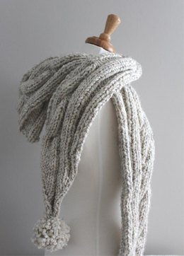 Cable Hooded Scarf
