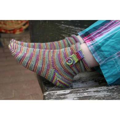 Boot Strap Socks with Dorset Buttons