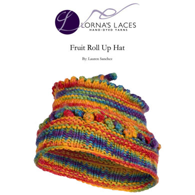 Fruit Roll Up Hat in Lornas Laces Shepherd Worsted Knitting Patterns ...
